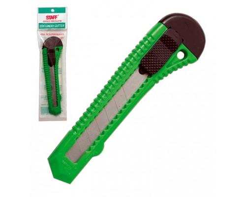 Нож канцелярский 18мм. STAFF с фиксатором