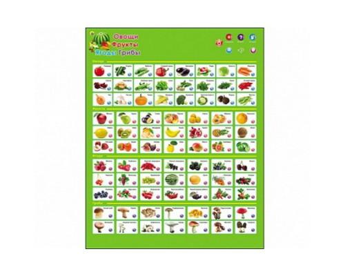 Звуковой плакат Фрукты, овощи, ягоды, грибы ЗП-1566