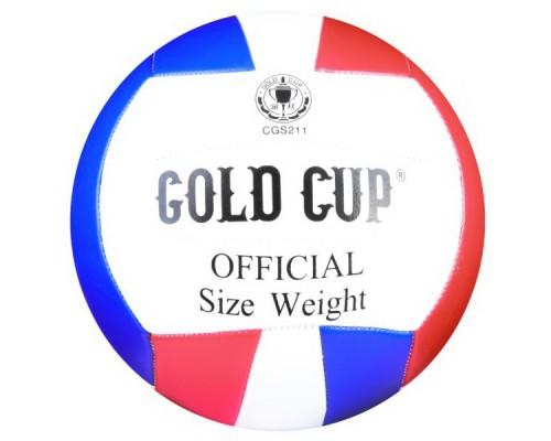 Мяч волейбольный GOLD CUP, 280г, PVC матовый, 2 слоя Т81427