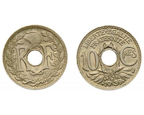 БЕЗ СКИДКИ Монета 10 сантимов Франция 1930-1939