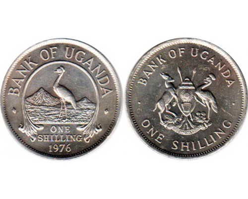 БЕЗ СКИДКИ Монета 1 шиллинг Уганда 1976