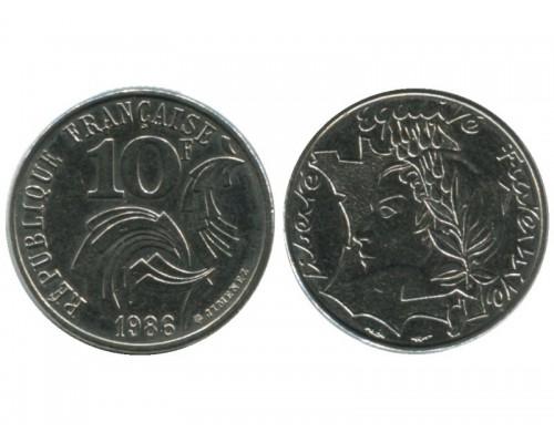 БЕЗ СКИДКИ Монета 10 франков Франция Равенство