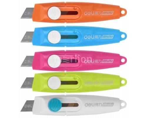 Нож канцелярский 9мм. Deli Vivid Mini