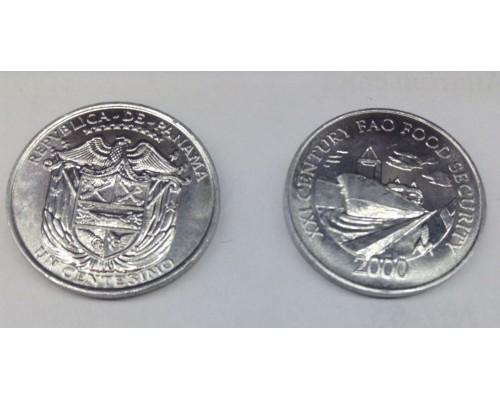 БЕЗ СКИДКИ Монета 1 сентисимо Панама ФАО Корабль 2000