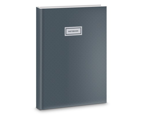 Книга для записей А4 100 листов Серый графит