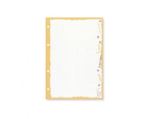 Сменный блок для тетради на кольцах 50 листов А5 БЕЖЕВЫЙ COFFEE TIME, в точку
